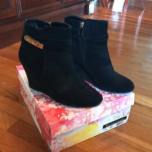 Chinese Laundry Suede Wedge Booties